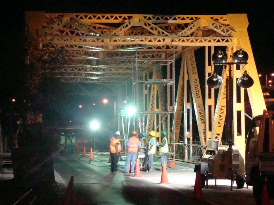 workers working at night